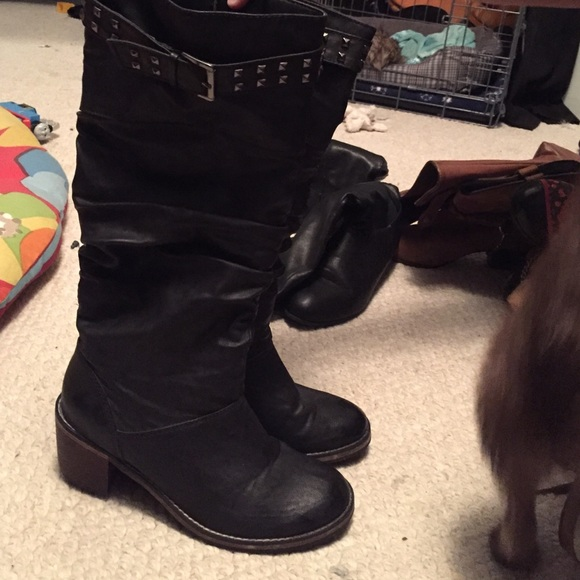 75 wanted shoes black boots from michaela s closet