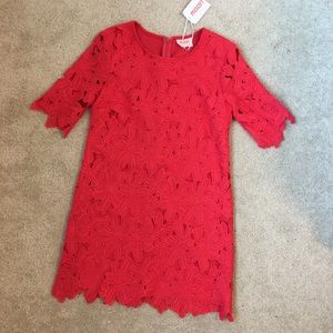Moon Dresses & Skirts - Red Lace Crochet Dress
