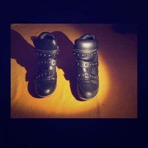 Forever 21 Shoes - Black sneaker wedges