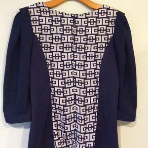 Tops - Maxinne Mode Blouse. Size S blue/white colors
