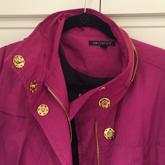 70% off For Cynthia Jackets &amp Blazers - Magenta dressy rain