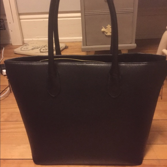 H M Bags   Hm Tote Bag With Gold Side Zippers   Poshmark c73403df5d