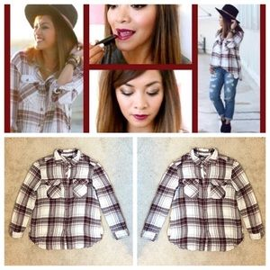 BDG Tops - Plaid Button Down Shirt