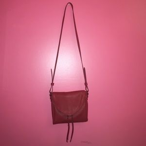 Red cross body (leather)