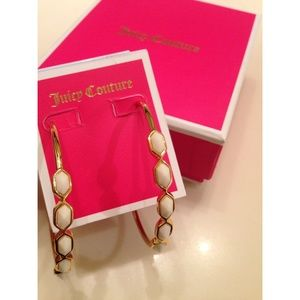 NEW Juicy Couture Gold Hoop Earrings