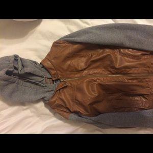 leather/fleece jacket