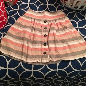 Elastic Skater Short Skirt