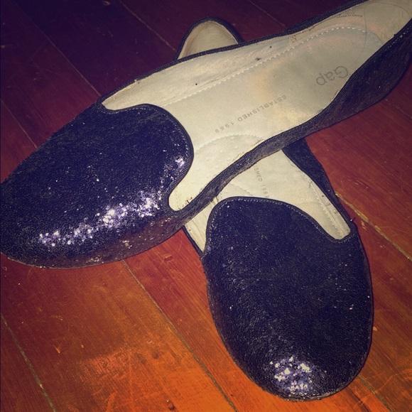 Navy glitter GAP loafers size 9