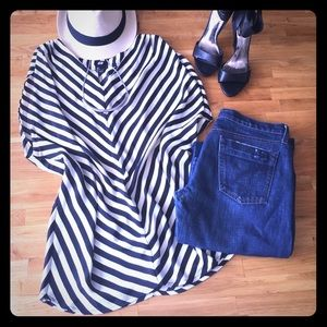 H&M Candy Stripe Blouse