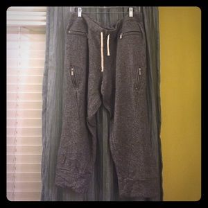 Victoria's Secret gray moto sweats