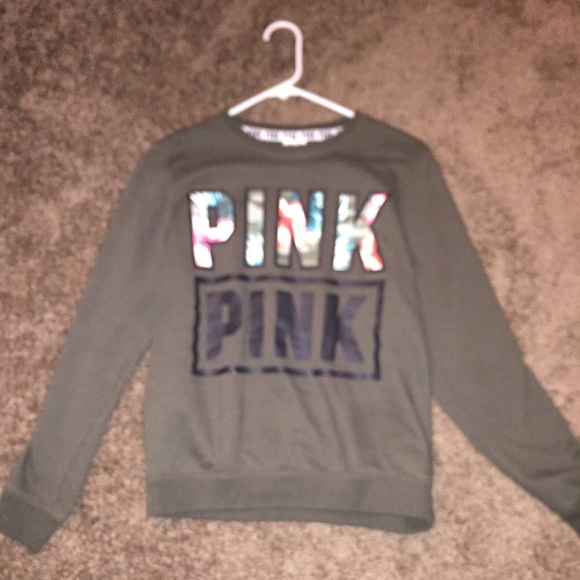 13% off PINK Victoria's Secret Sweaters - Vs pink , olive green ...