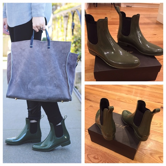 c209d41e903a J. Crew Shoes | J Crew Green Chelsea Rain Boots | Poshmark