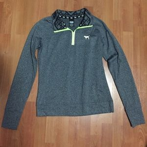"VS PINK ""Ultimate Half Zip Jacket Pullover"""