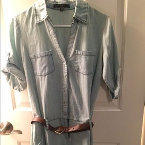 Dresses & Skirts - Denim Collared Dress