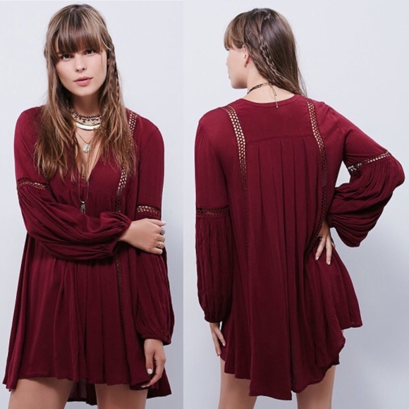 d7eaac809162 Free People Tops | Nwot Fp Babydoll Lace Inset Swing Tunic Sz Small ...