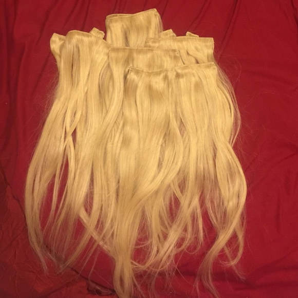 Luxy Hair Accessories Extensions Bleach Blonde Poshmark