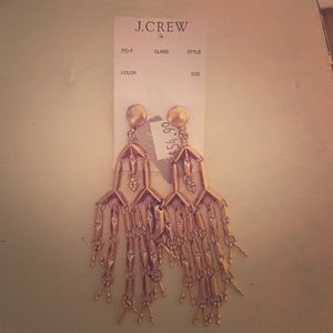 J. Crew Jewelry - J crew gold change liver earrings, never worn