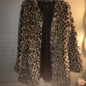 NWOT Size S Faux Fur LongStyle Jacket