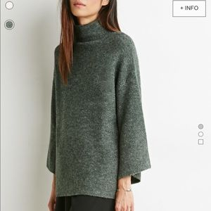 Forever 21 Sweaters - Mod Green Turtleneck Sweater