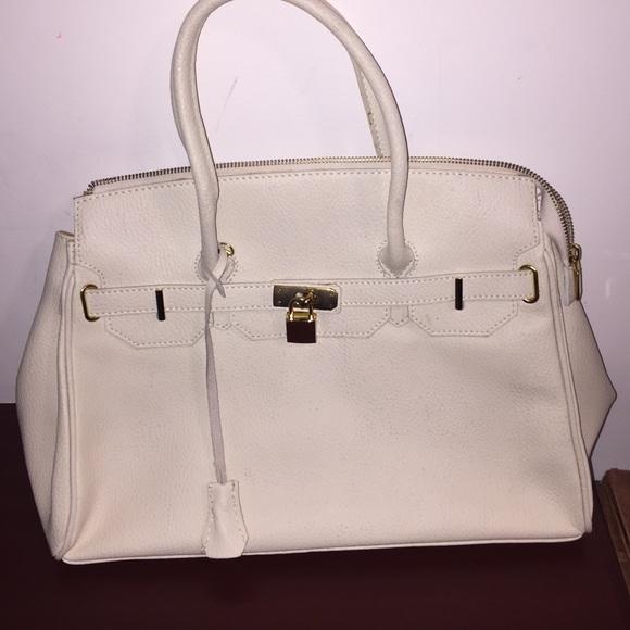 a9dfdf1530682 Handbags - White   Gold Genuine Leather Borse in Pelle Purse