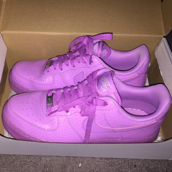 GENTLY USED lavender Air Force Ones