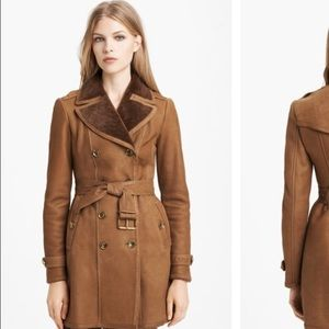 BURBERRY BRIT Feering Shearling Trench Coat