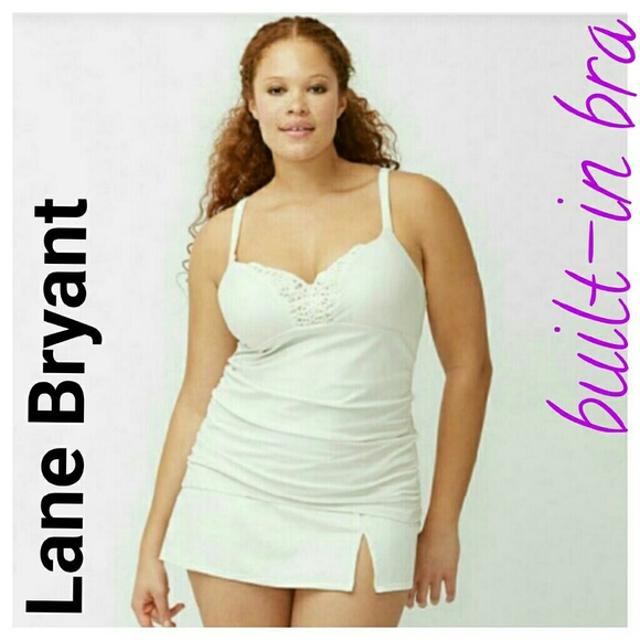 81749985708 Lane Bryant macrame swimsuit tankini 36DD