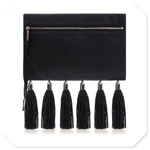Rebecca Minkoff Handbags - Rebecca Minkoff Leather Tassel Clutch