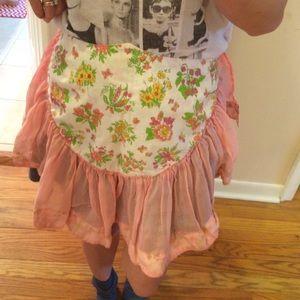 Vintage floral apron.