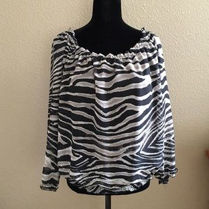  Peck & Peck Collection Zebra Print.  NWOT