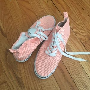 *H&M* orange stripe sneakers