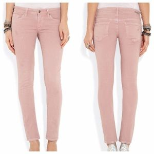 Dusty Rose Blush Pink Skinny Jeans