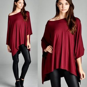 "Bare Anthology Tops - LOWEST ""Antigone"" Loose Asymmetric Kimono Top"