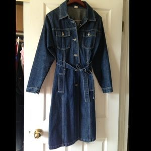 Maurices Jackets & Coats - Long denim jacket Jeans trenchcoat