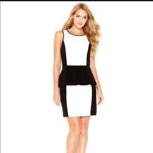 Kensie Dresses & Skirts - Black and White Peplum Dress