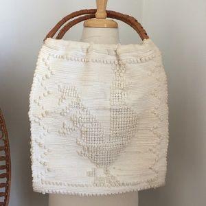 ✨price drop✨ Vintage wicker handle beach bag