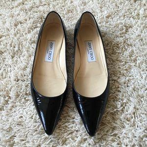 Jimmy Choo Shoes - ❄️LAST CHANCE❄️Jimmy Choo Alina black patent flat