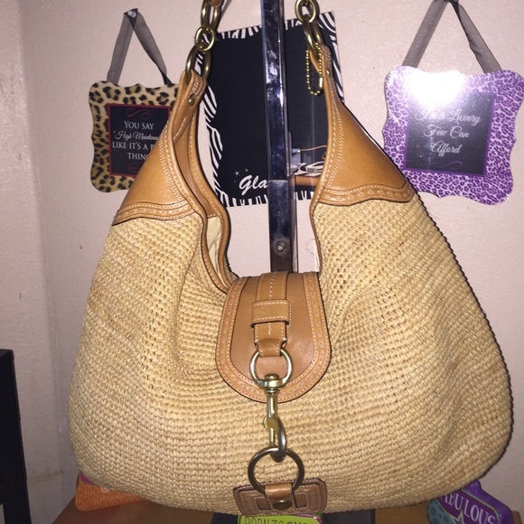 Coach Bags   Flagship Millie X Large Woven Straw Leather   Poshmark 817087d167