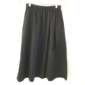 Black Eileen Fisher linen skirt.
