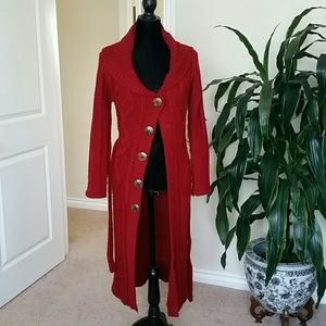 Jackets & Blazers - Red long coat.