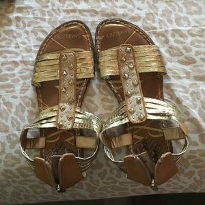 Sam and Libby gold sandals