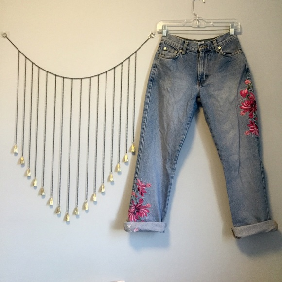 Vintage Jeans Express With Floral Embroidery Poshmark