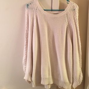 Forever 21 cream oversized sweater