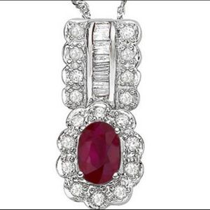 Jewelry - Ruby and Diamond Pendant‼️❤️