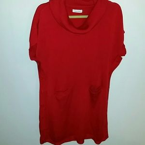 Red Calvin Klein tunic