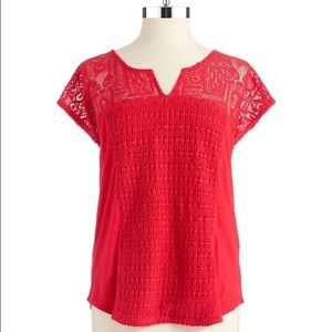 Lucky Brand Tops - NWT Plus Size Lucky Brand Lace Patchwork Top