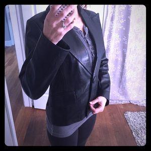 Banana Republic Black Leather Jacket Size 4