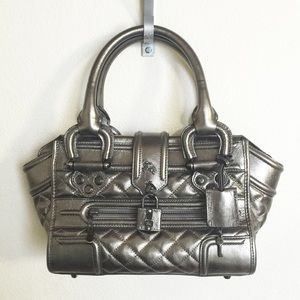 BURBERRY Mini Manor Quilted Handbag