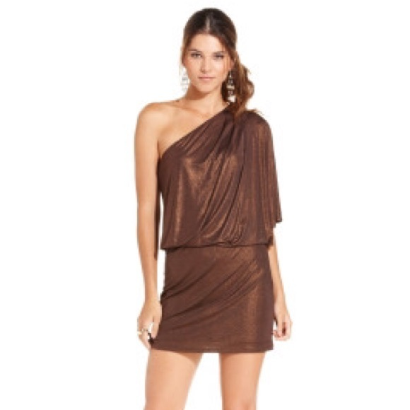 Bronze One Sleeve Dresses