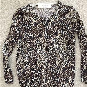 Zara leopard print cardigan